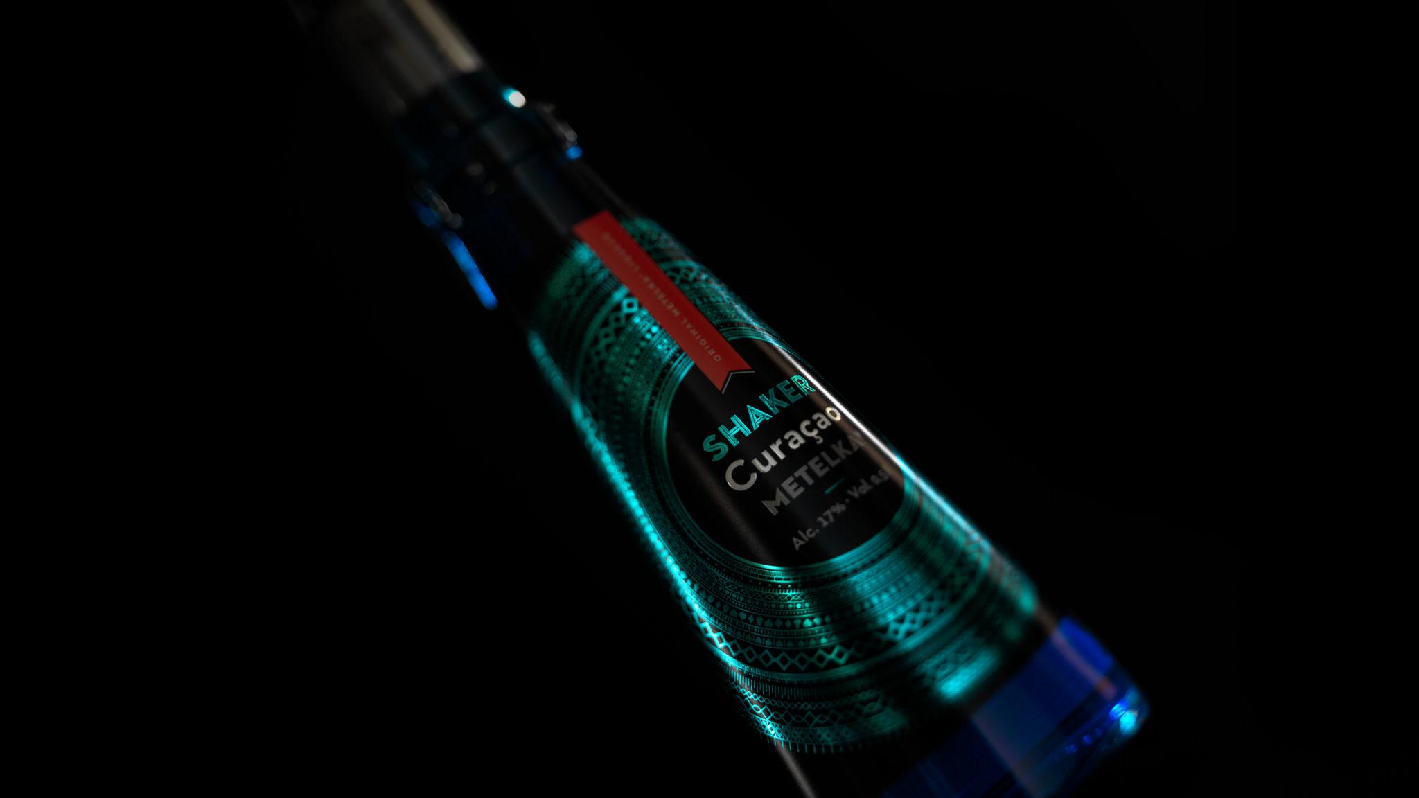 Pomerančový likér – Shaker Curacao 0,5 L