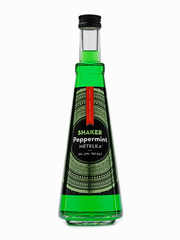 Peprmintový likér od likérky Metelka