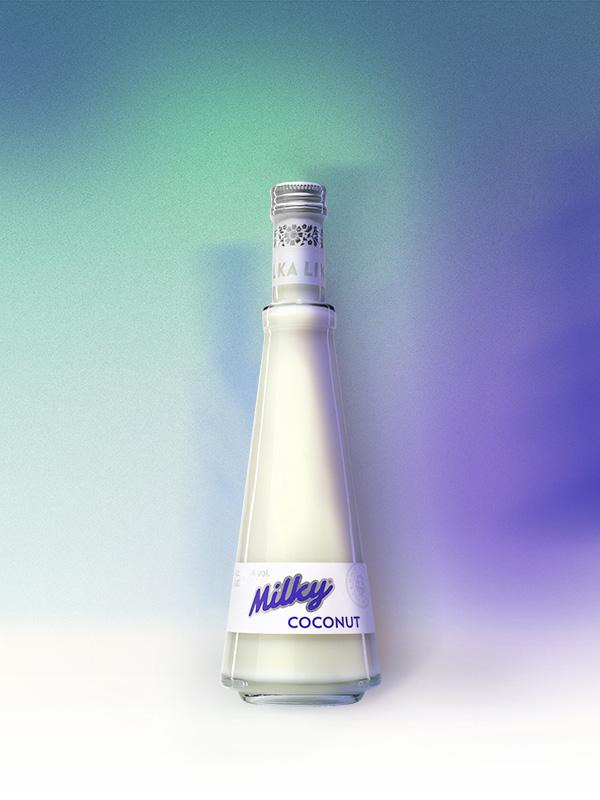 Coconut, lahodný kokosový nápoj, produkt řady Milky