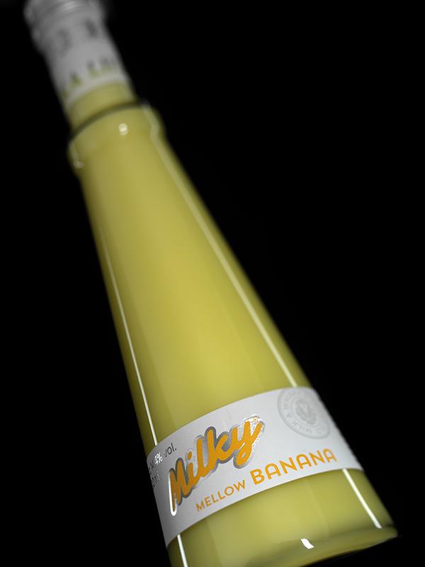 Sladký alkoholický nápoj s příchutí banánu – Metelka likéry