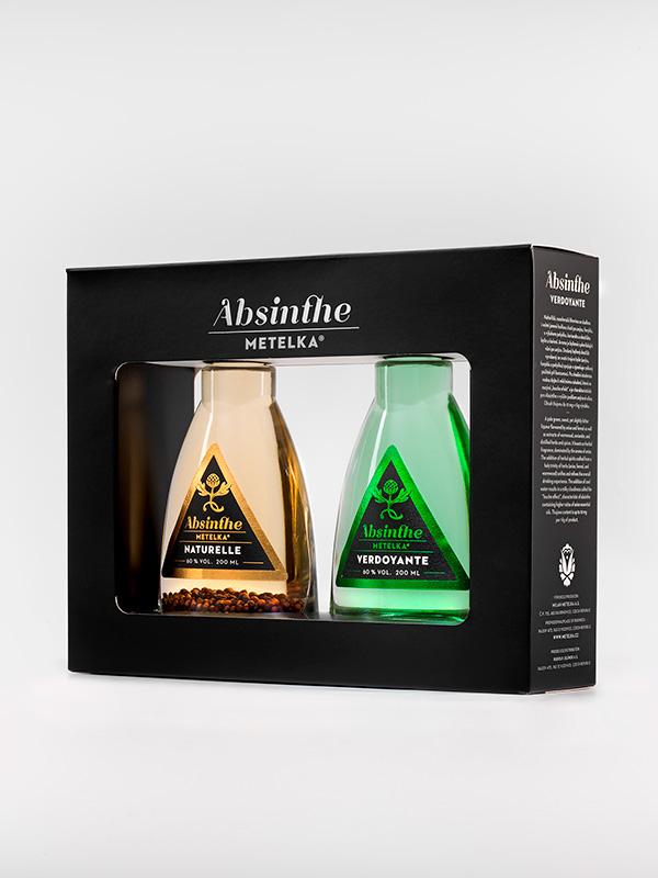 Dárkové balení Absinthe Metelka Naturelle + Verdoyante