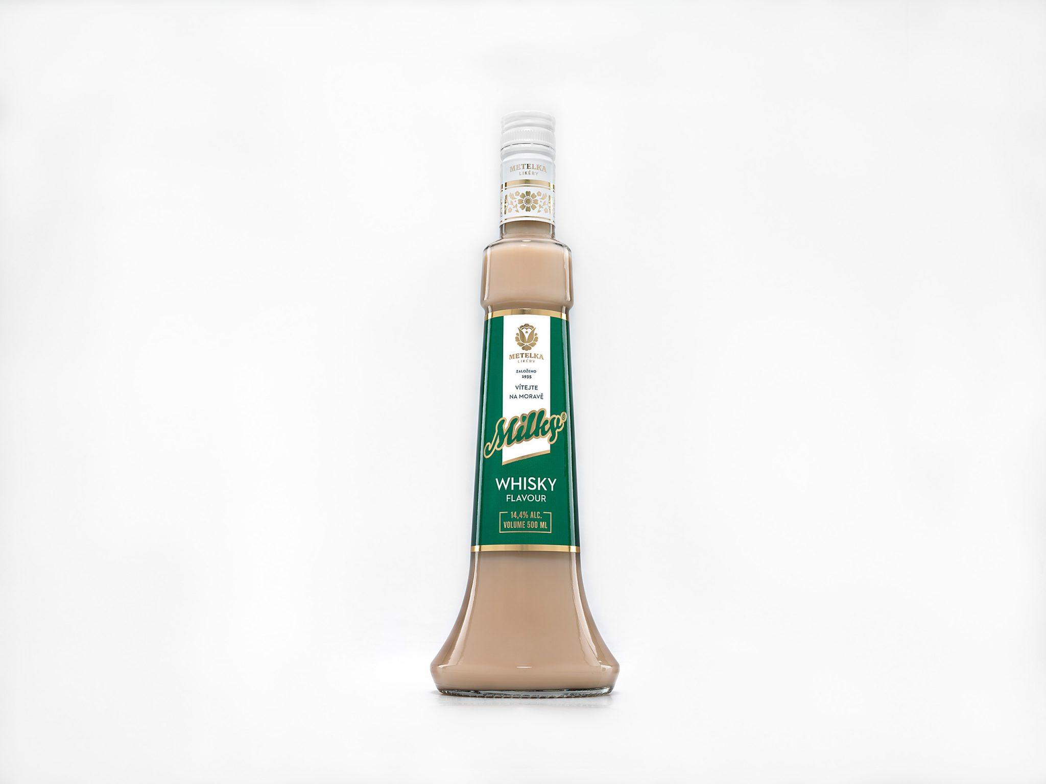Alkoholický nápoj s příchutí whisky – Milky Whisky Flavour 0,5 L