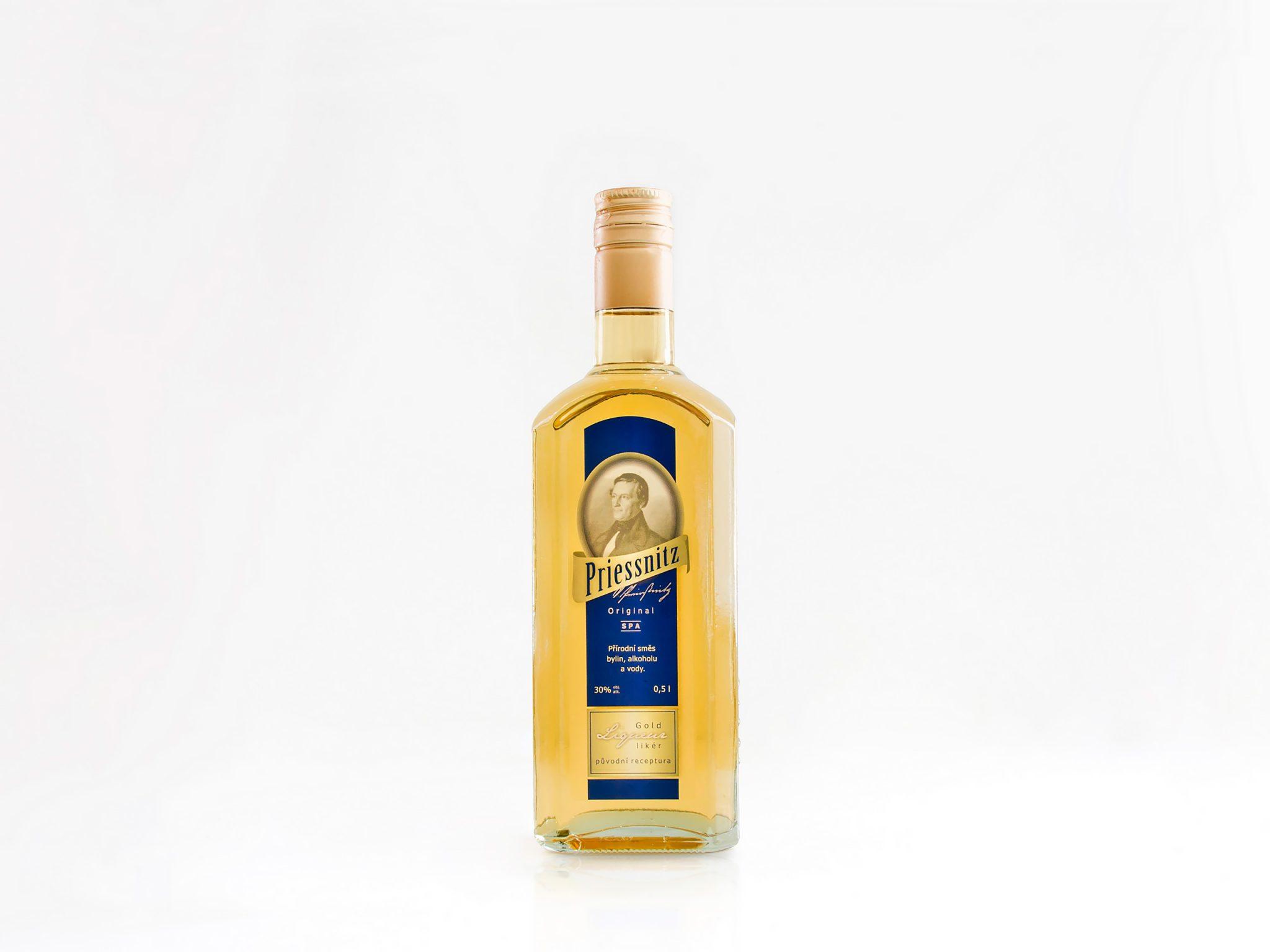 Bylinný likér Priessnitz 0,5 L – exkluzivní lázeňský likér